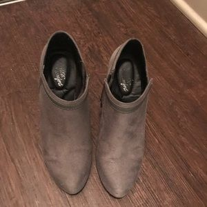 Payless suede Ankle boots with heel